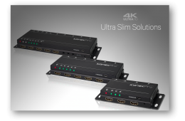 KanexPro UltraSlim Distribution Amplifier, Switcher HDBaseT Extender and Audio Extractor