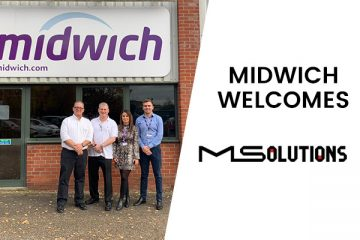 Pictured left to right - Ariel Marcus, CTO and Co-Founder of MSolutions | Philip Bass - UK Country Manager of MSolutions | Claire Coogan – Divisional Manager of Midwich | Mike Day, Senior Brand Manager at Midwich.
