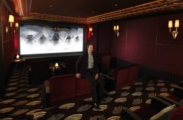 Jerry Bruckheimer in his home cinema