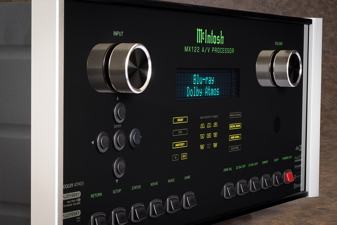 DTS:X And Auro-3D Join Dolby Atmos On McIntosh's MX122 Processor