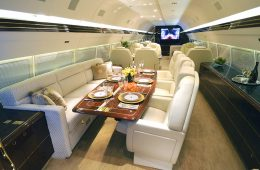 SkyTheater Trump private plane home cinema