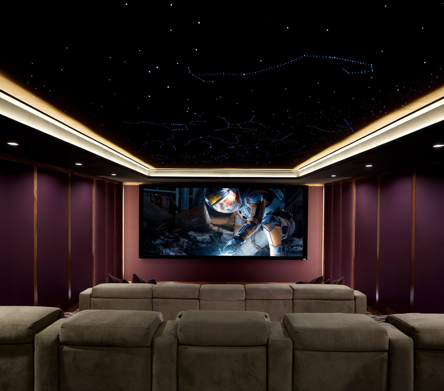 ELAN-Controlled Dolby Atmos Home Theatre Boasts Starlit