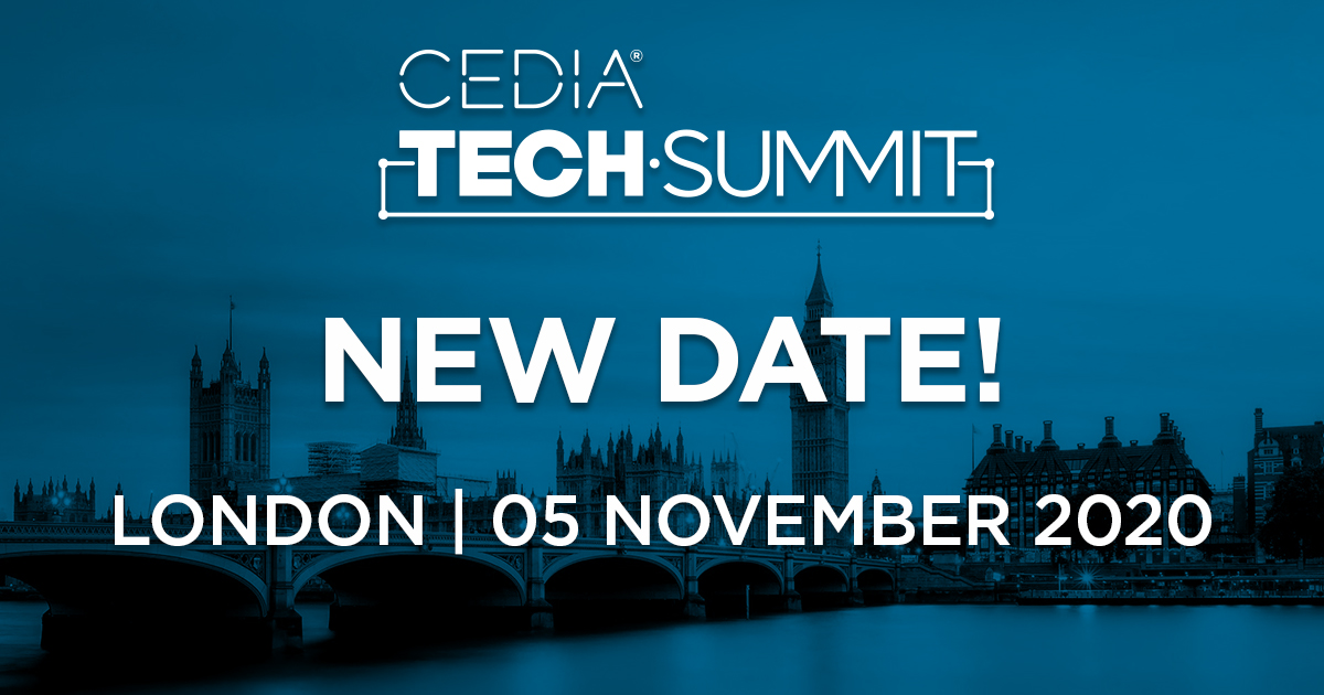 CEDIA Announces New London Tech Summit Date